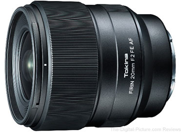 Tokina FíRIN 20mm f/2 FE AF Lens