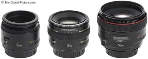 Canon 50mm Lens Size Comparison