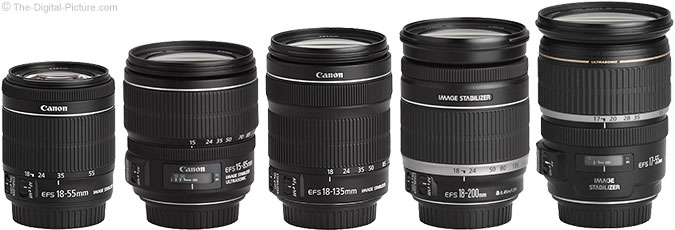 Canon EF-S 18-55mm f/3.5-5.6 IS STM Lens Compared to Similar Lenses