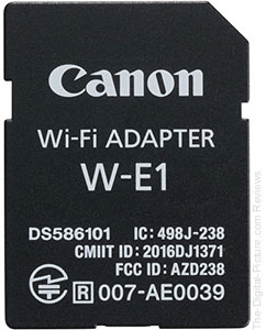 Canon W-E1 Wireless Adapter In Stock at B&H