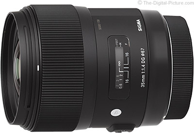 Save $  100.00 on the 18-35, 35 & 50mm Sigma Art-series Lenses