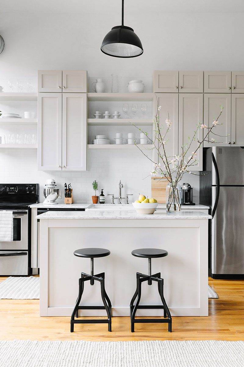 the everygirl office kitchen makeover