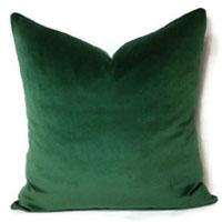 forest green velvet throw pillow the
