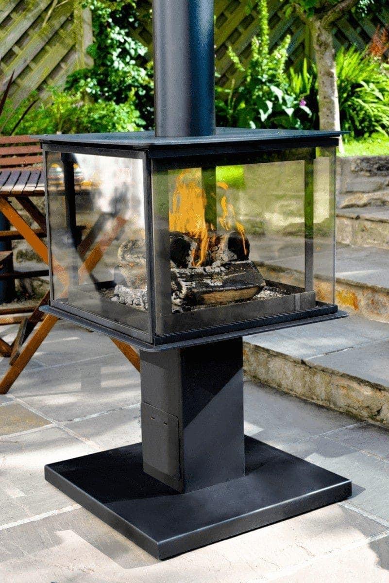 legend garden cube outdoor wood burning stove