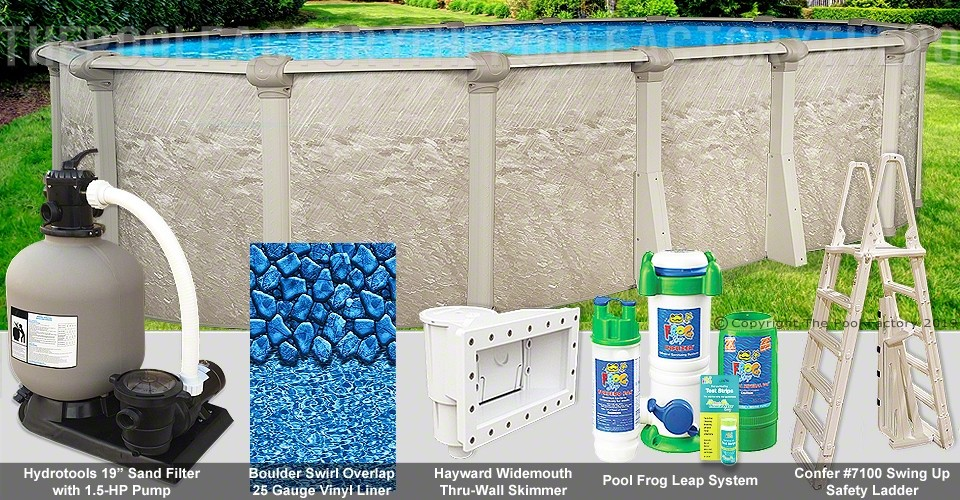 15 X30 X52 Cameo Oval Pool Package Swimming Pool Kit