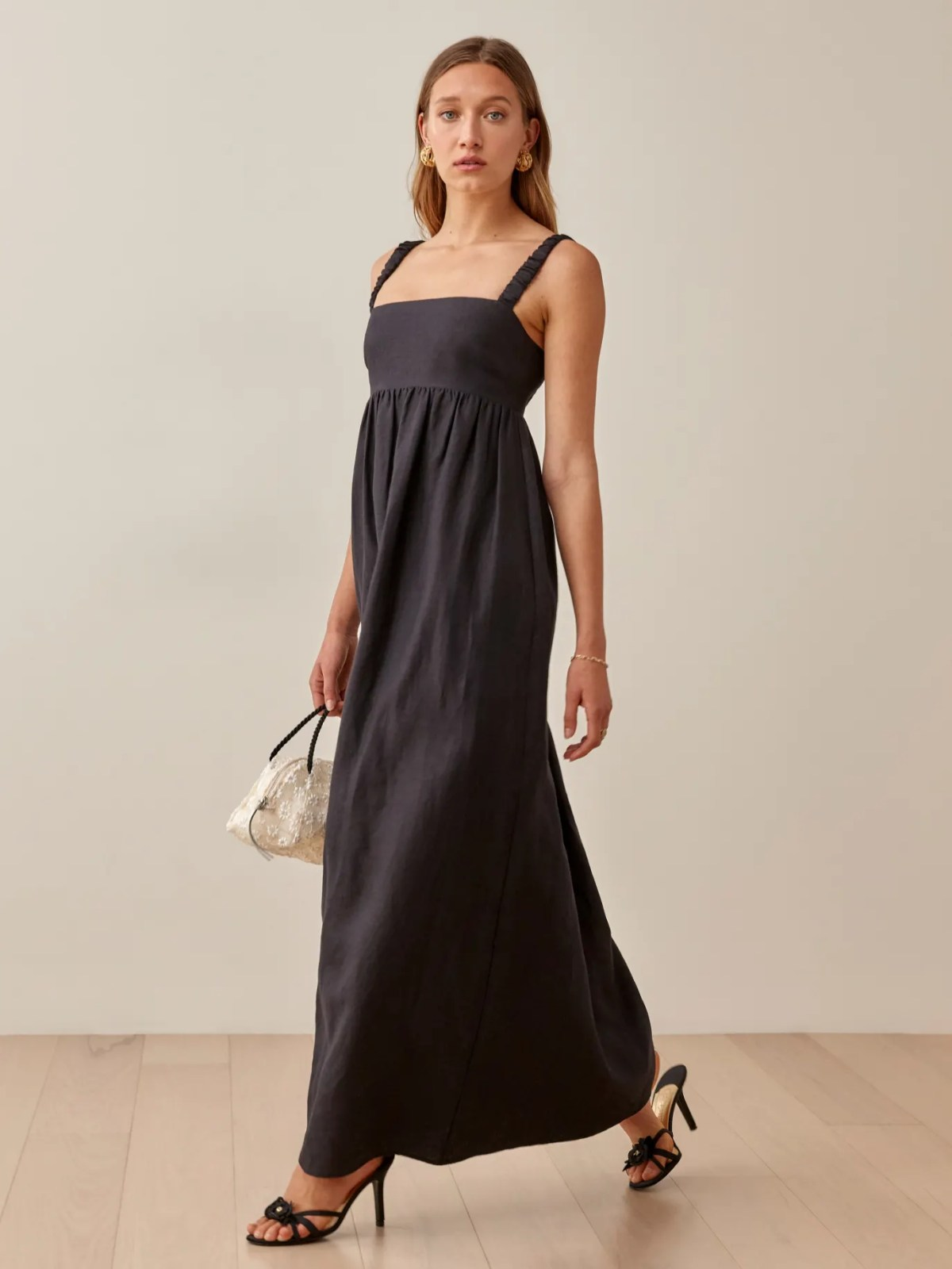 Black Tana Linen Dress