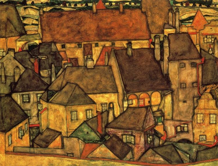 エゴンシーレ 黄色い街