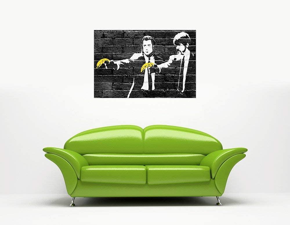 バンクシーグラフィティ壁アートポスターパルプフィクション