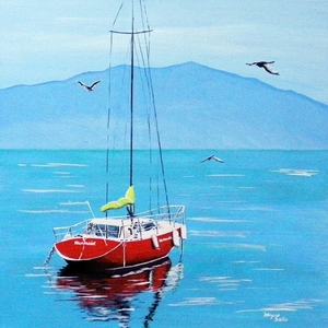「赤いヨット」