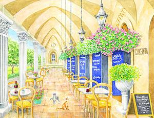 「ヨーロッパのカフェ」