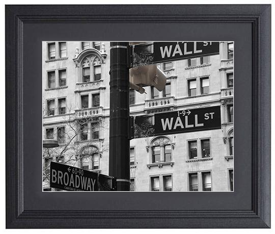 WALL st x BROADWAY,NY【Framed】