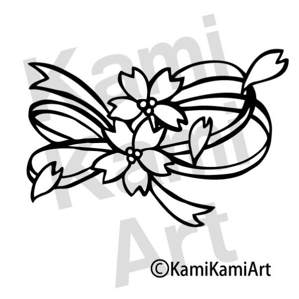 切り絵 桜の図案