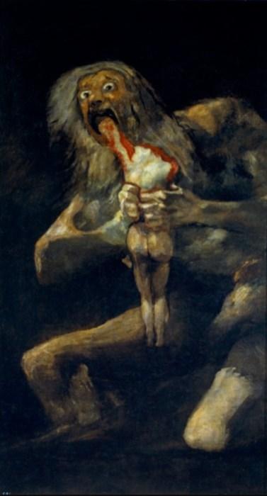 怖い絵 我が子を喰らうサトゥルヌス
