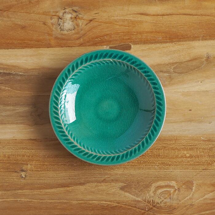 5寸葉紋皿
