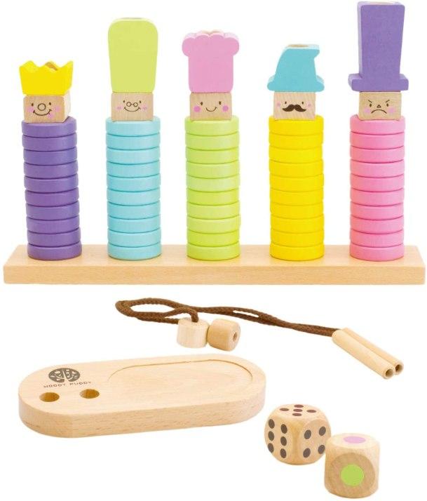 知育玩具 木製積み木RING10