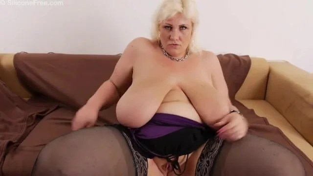Solo Blonde Bbw Teases In Black Stockings Big Women Porn At Thisvid Tube