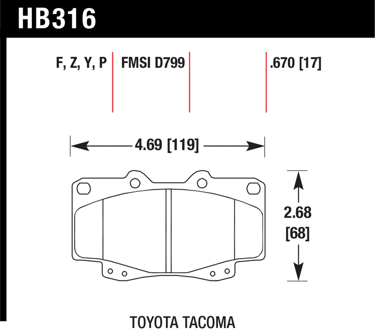 Hawk Hb316p 670 Superduty Brake Pads