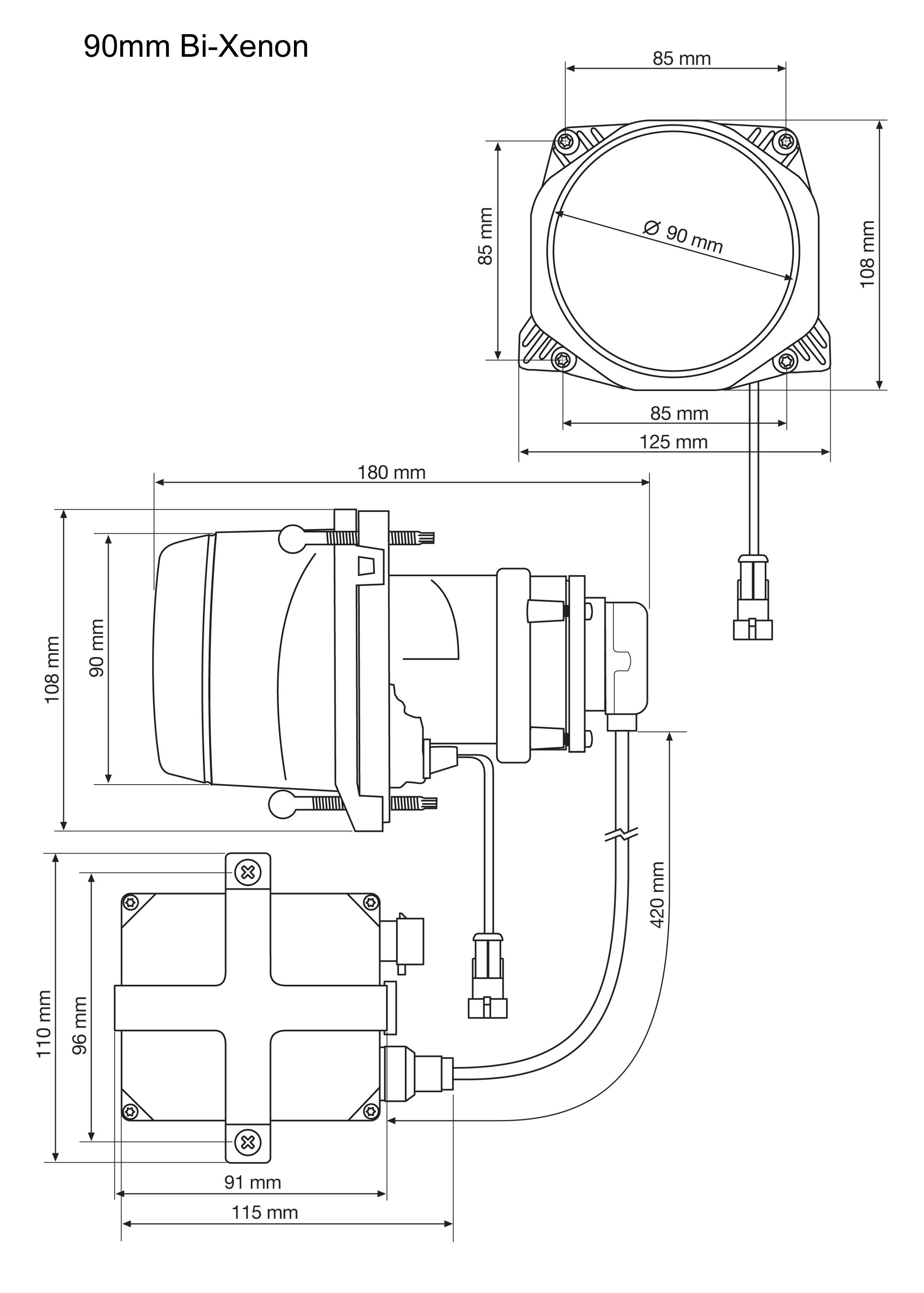 Hella 90mm De Bi Xenon Headlamp