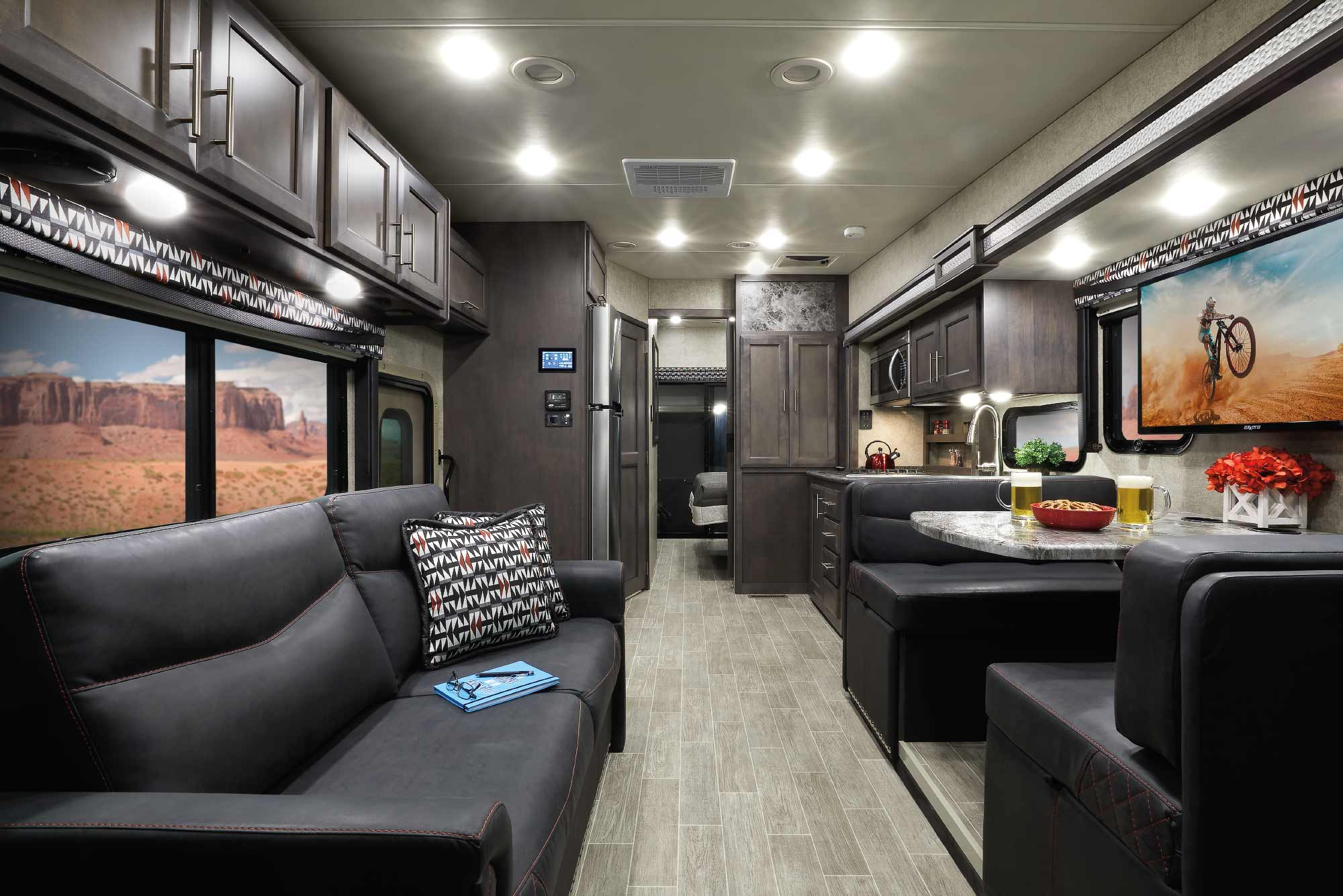 thor outlaw class a toy hauler motorhomes