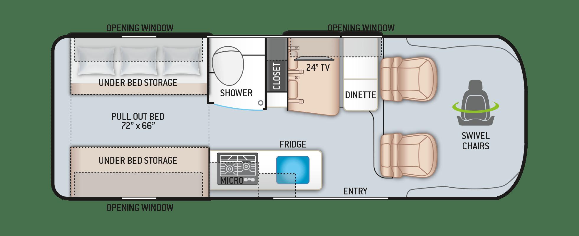 Tellaro 20AT Floor Plan