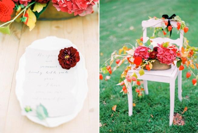 Bröllopsdukning höst The Wild Rose