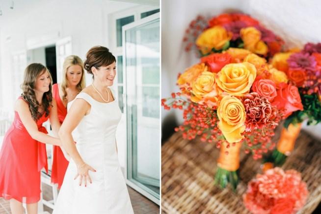 Höstbröllop med starka färger, utonhusbröllop på Vidbynäs
