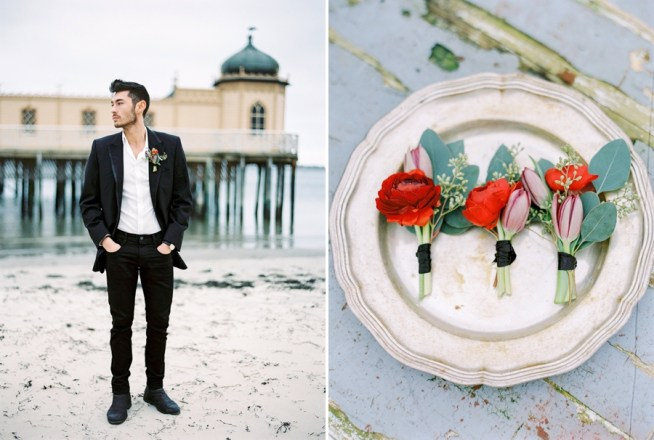 Winter Seaside wedding inspiration Isabelle Hesselberg / 2 Brides Photography