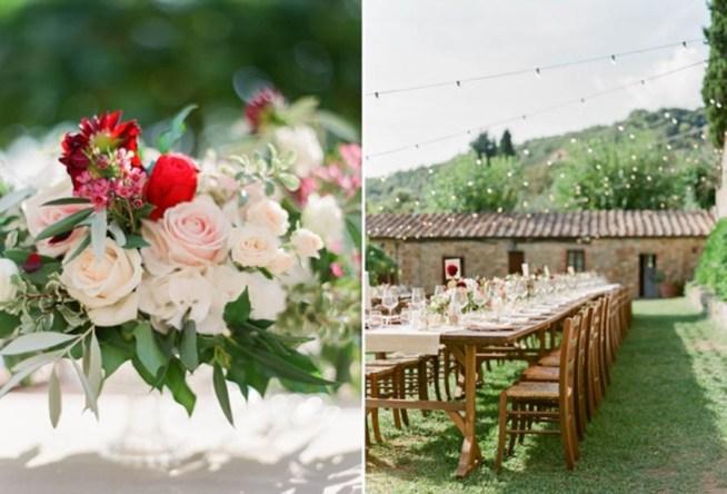 Utomhusbröllop i Toscana