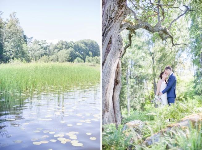 bröllopsfotografering i skogen