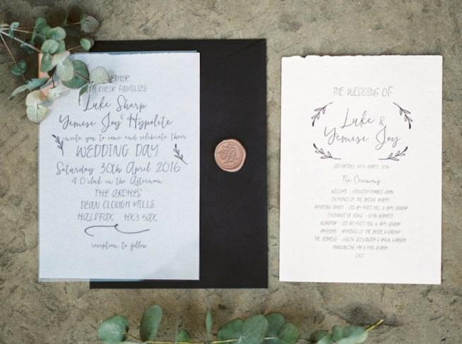 Handskrivna trycksaker till bröllop