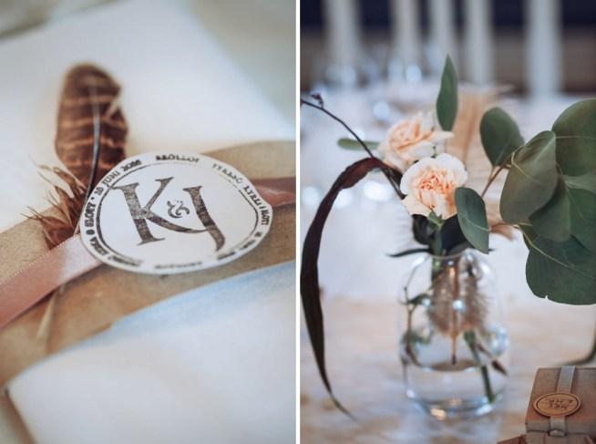 bröllopsdetaljer i vintagestil