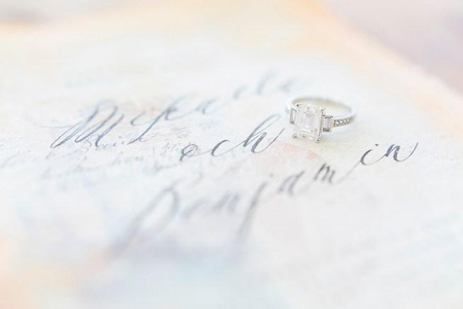 detaljbild på bröllopsinbjudan elins art studio