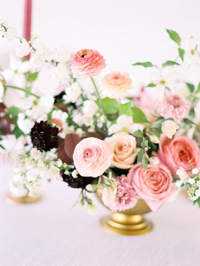 färgsprakande bröllopsinspiration för dukningen
