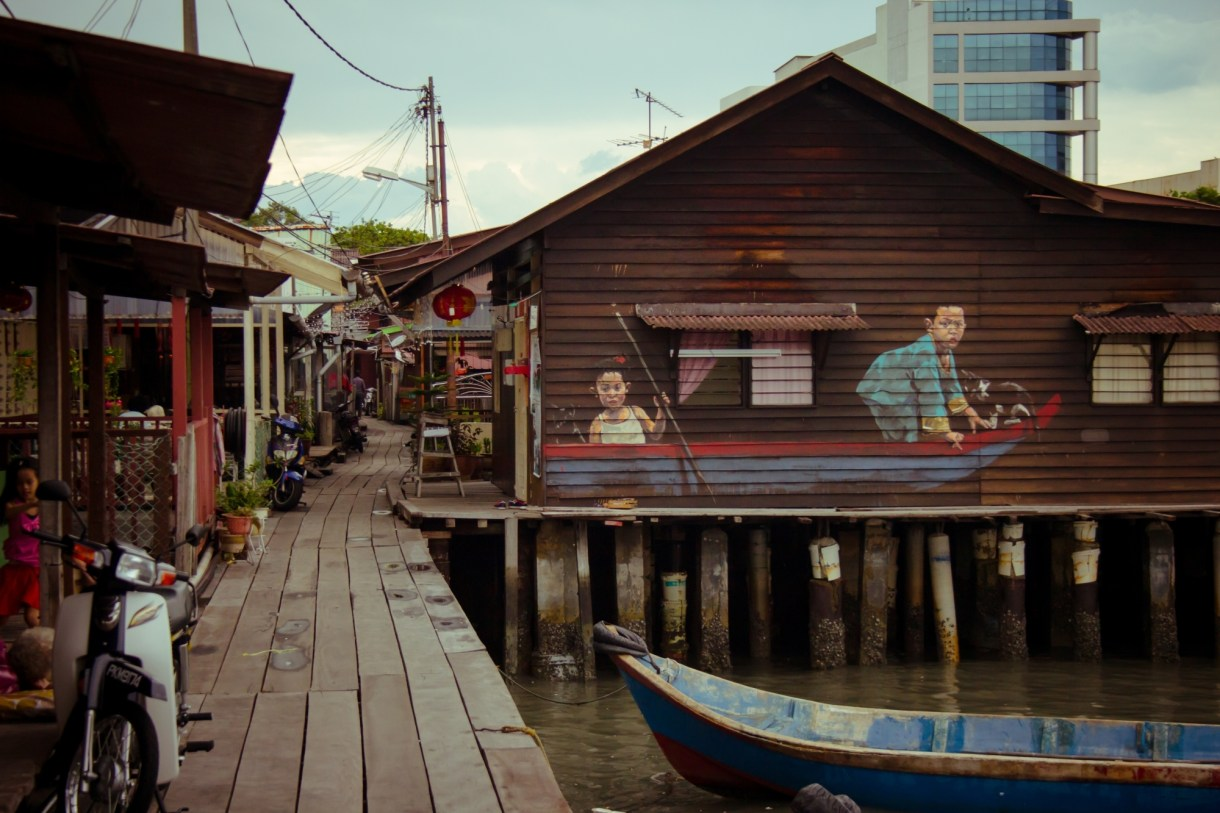 Image result for two children on a boat street art