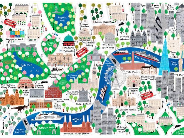 """Результат пошуку зображень за запитом """"map of london for kids"""""""