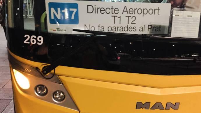 N17 - Directo al Aeropuerto de Barcelona