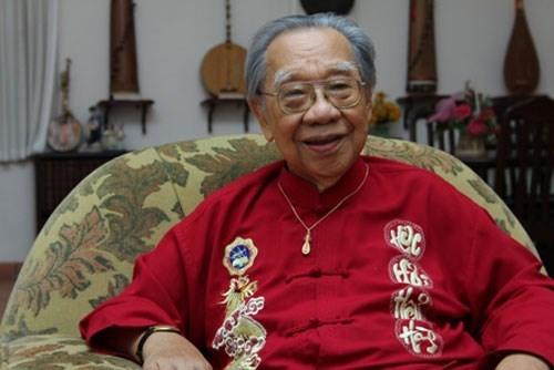 Hình ảnh GS. Trần Văn Khê muốn tiền phúng điếu tang lễ của mình được dùng lập quỹ học bổng số 1