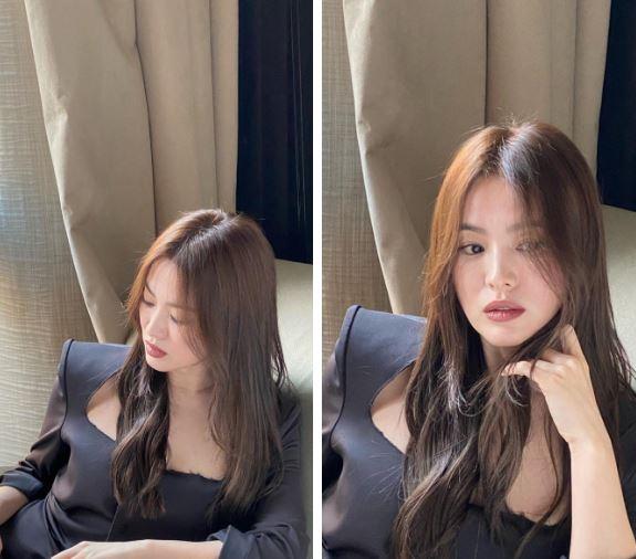 Tóc nâu môi trầm, Song Hye Kyo 'thả rông sắc đẹp' đầy ma mị ở trời Tây 7