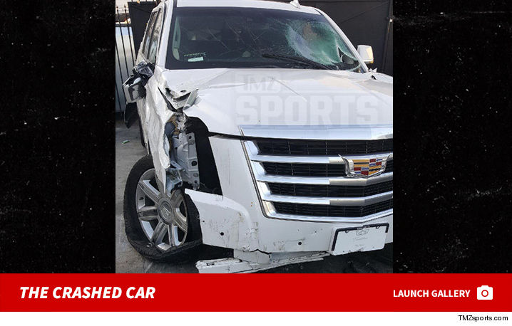 Image result for derek fisher crashed matt barnes car