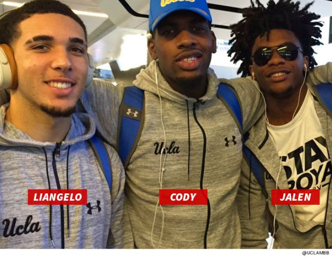 Image result for LIANGELO & UCLA TEAM MATESVIDEO FROM SHANGHAI AIRPORT... Minutes Before U.S. Flight