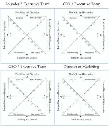 Competing Values, blank, matrix, team alignment, Toby Elwin, OCAI, Kim Cameron, Robert Quinn