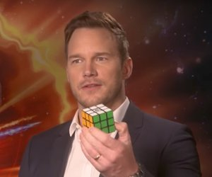 Chris Pratt Solves Rubik's Cube in 3 Minutes During Interview