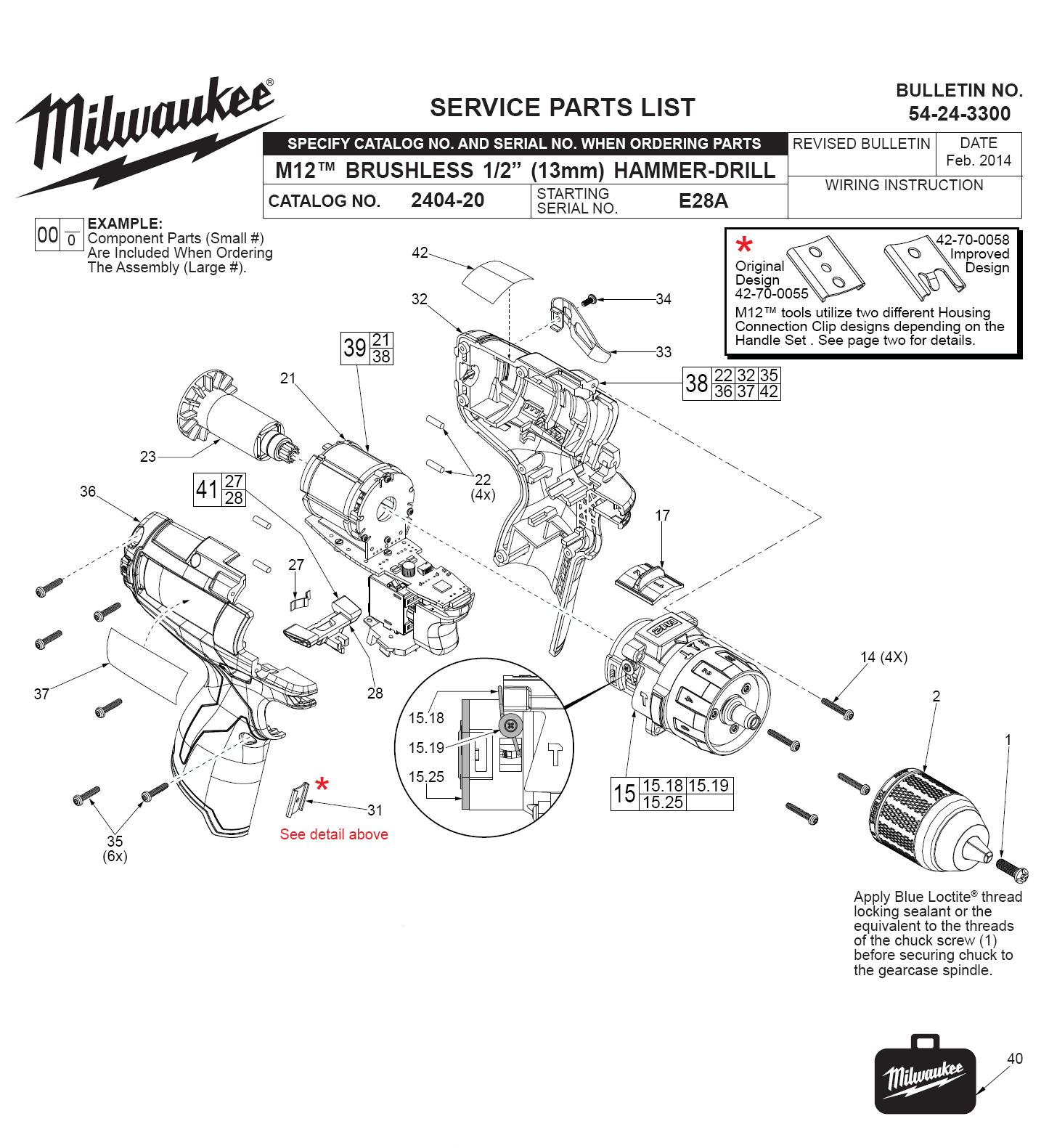Buy Milwaukee 22 E28a M12 Fuel 1 2 Inch Replacement