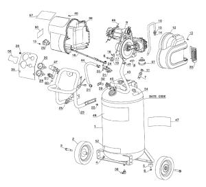 Buy Dewalt D55168 Type6 HeavyDuty 200 PSI 15 Gallon 120 Volt Electric Wheeled Portable