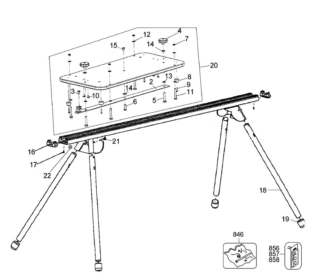 Dewalt Miter Saw Stand Parts Diagram