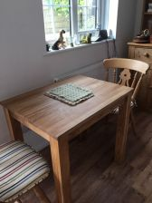 small solid oak dining table cheap  seater kitchen table