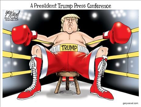 Image result for cartoons president trump press conference