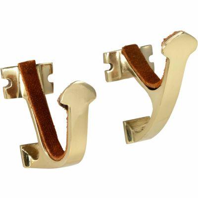 allen brass gun hanger 3 85 in w x 8 35 in l x 1 8 in h 0 32 lb 5641