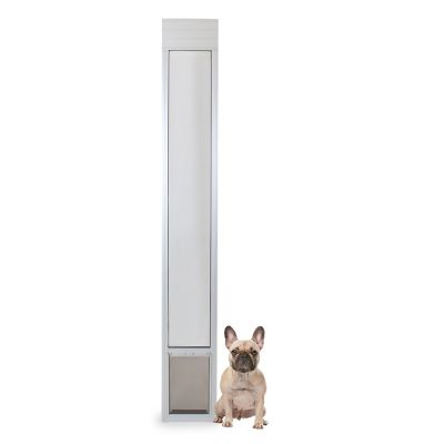 petsafe freedom aluminum patio panel sliding glass pet door adjustable 76 13 16 in to 80 11 16 in ppa11 13134
