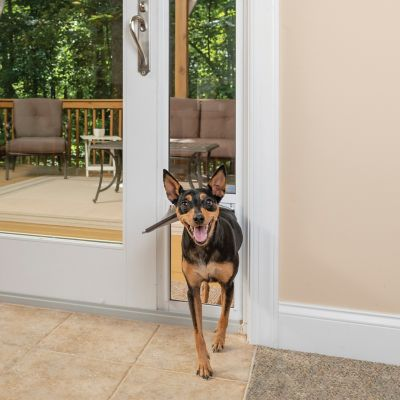 petsafe freedom aluminum patio panel pet door adjusts up to 96 inches ppa11 13127